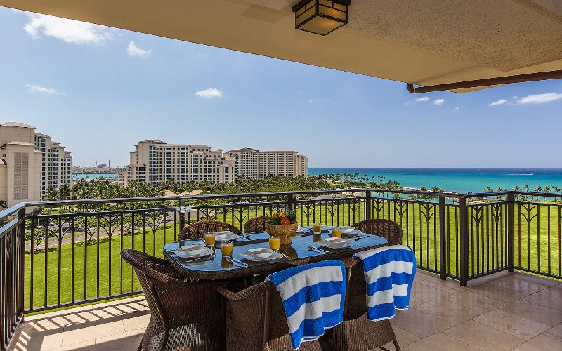 Outdoor dining on the lanai - O-924: Hale Alii Ko Olina Beach Villa - Kapolei - rentals