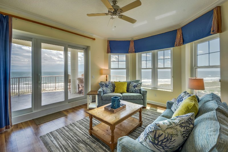 Lovely Living Room with Sleeper Sofa and Balcony Access - Ocean Place Unit #30 Welcome Home - Fernandina Beach - rentals