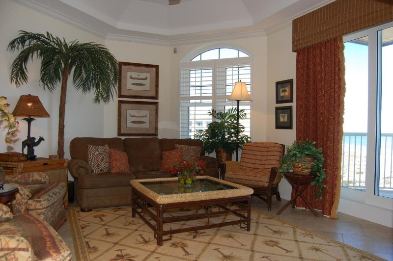 Living Room with Pull Out Sofa - Ocean Place Unit #32 Just Beachy - Fernandina Beach - rentals