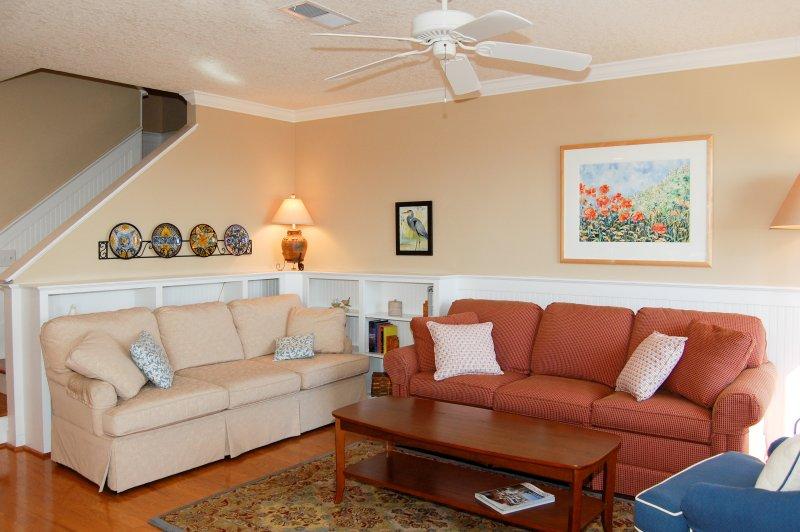 Living Room with a Sleeper Sofa - 111 Sailmaker - Fernandina Beach - rentals
