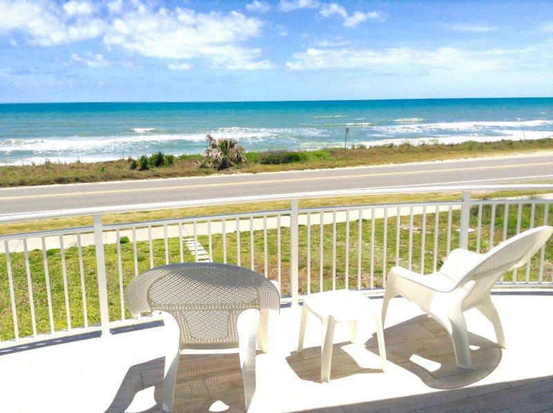 Master Bedroom Balcony - Oceanfront Home 3/4 Flagler Beach, Fl (Negotiable) - Flagler Beach - rentals
