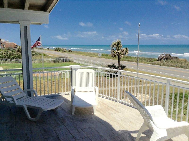 Master Bedroom Balcony Side View - Oceanfront Home 3/4 Flagler Beach, Fl Totally new - Flagler Beach - rentals