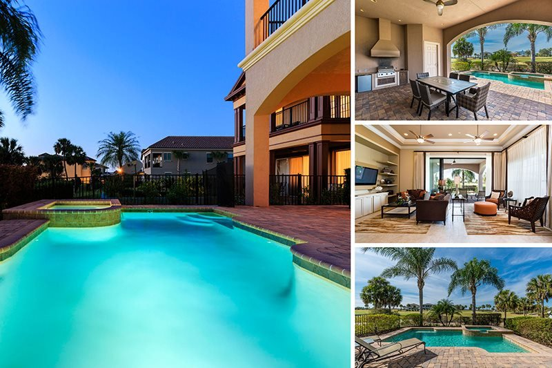 Magnificent Manor | Luxury Contemporary Villa with West Facing Pool, Built in BBQ, Pool Table & Home Theater Sound System - Image 1 - Kissimmee - rentals