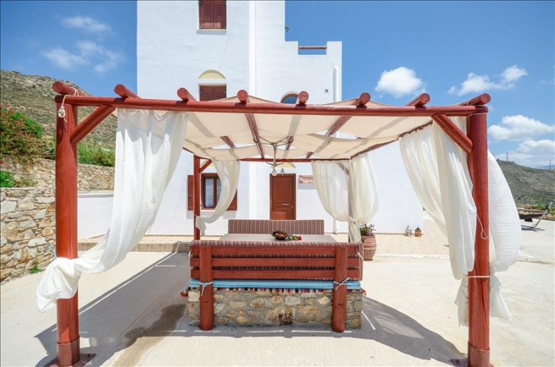 Naxos Villa of Roses with wonderful views to sea and hillside 3 B/R in private - Image 1 - Naxos - rentals