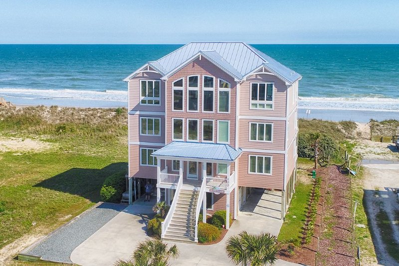 100 Scotch Bonnet - Island Drive 100 Oceanfront!   Private Heated Pool, Hot Tub, Elevator, Game - North Topsail Beach - rentals