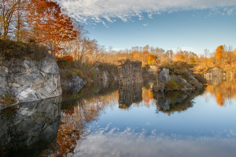 Quarry in the fall - Tennyson on the Quarry - Rockland - rentals