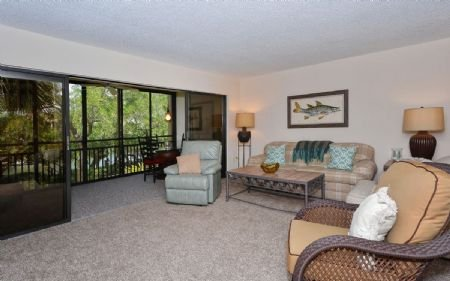 Living Area - Doveplum 721 - Siesta Key - rentals