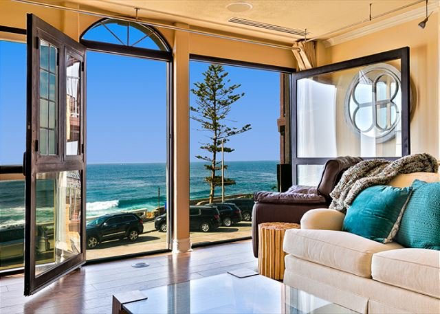 Sit back and enjoy the views! Please note there is a glass railing that cannot be seen in the photos. - Oceanfront home in the Village w/ private spa! - La Jolla - rentals