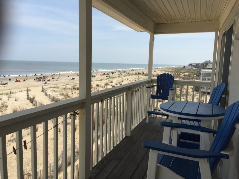 south view - Oceanfront at Dewey: Any Closer and You'd Get Wet! - Dewey Beach - rentals