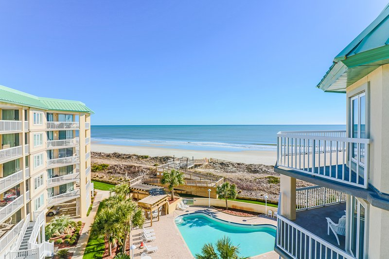 Oceanfront 5th floor condo, gated community, panoramic views, private amenities - Image 1 - Pawleys Island - rentals