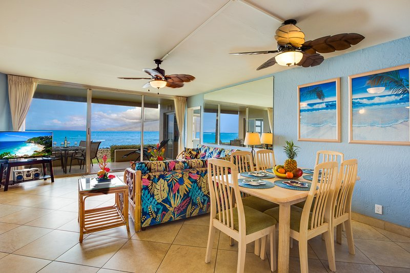Oceanfront Paradise! Awesome Views! Ground floor! A/C Throughout! - Image 1 - Kihei - rentals