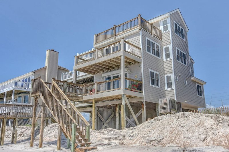 1234 New River Inlet Rd - New River Inlet Rd 1234   Direct Oceanfront   Jacuzzi Tub   Internet - North Topsail Beach - rentals
