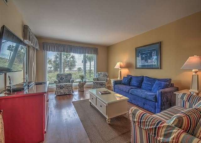 Living Area - 209 Shorewood - Direct Oceanfront!  Unbelievable views. - Hilton Head - rentals