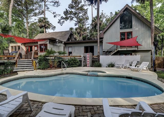 Private Pool & Poolside Spa - Great Beach House With Pool & Spa - Hilton Head - rentals