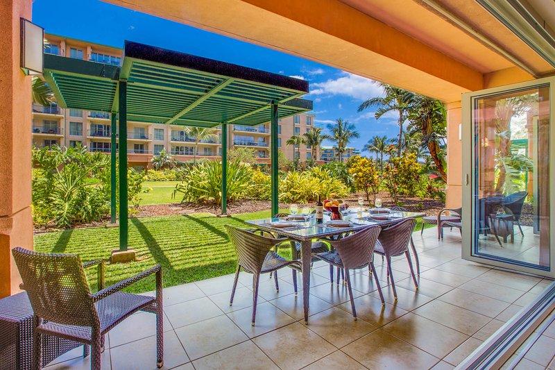Welcome to Konea 145 – mere steps to the pools/beach/bbqs - Maui Resort Rentals: Groundfloor Interior Honua Kai Konea 145, Huge Lawn Area - Lahaina - rentals
