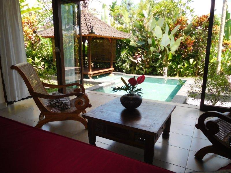 Living - Pool & View Over the Rice Fields in Penestanan - Ubud - rentals
