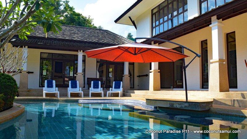 Beachfront Holiday Villa for Rent: Coconut Paradise P11 - Image 1 - Koh Samui - rentals