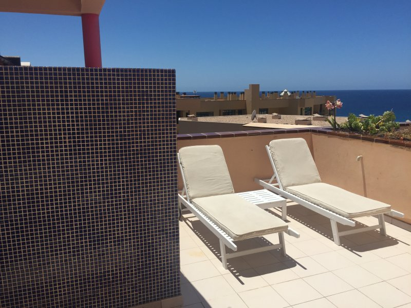 Fantastic sunny terrace with sea views  - Apartment in the south of Fuerteventura, in Morro Jable, to 200 m. from the beach - Morro del Jable - rentals