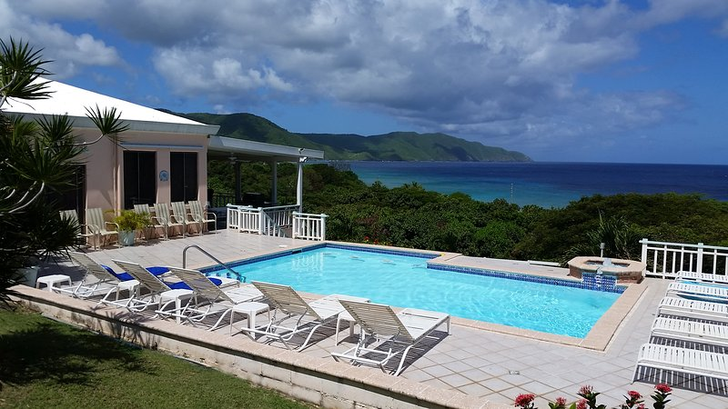 A view of Villa Dawn and Cane Bay. - Villa Dawn most popular on St. Croix for 18 years! - Saint Croix - rentals