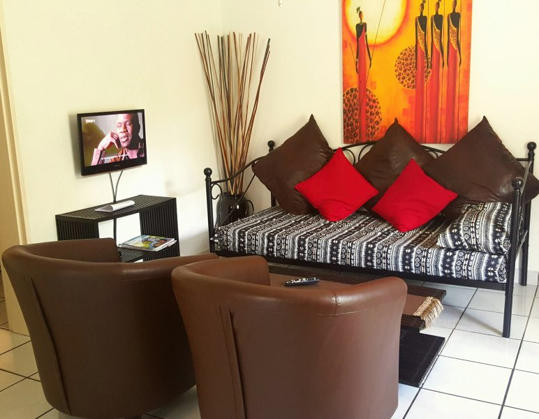 Unit C: 2 Bedroom self catering unit open-plan lounge with sleeper couch - Self Catering Units in Nelspruit Mpumalanga South Africa - Nelspruit - rentals
