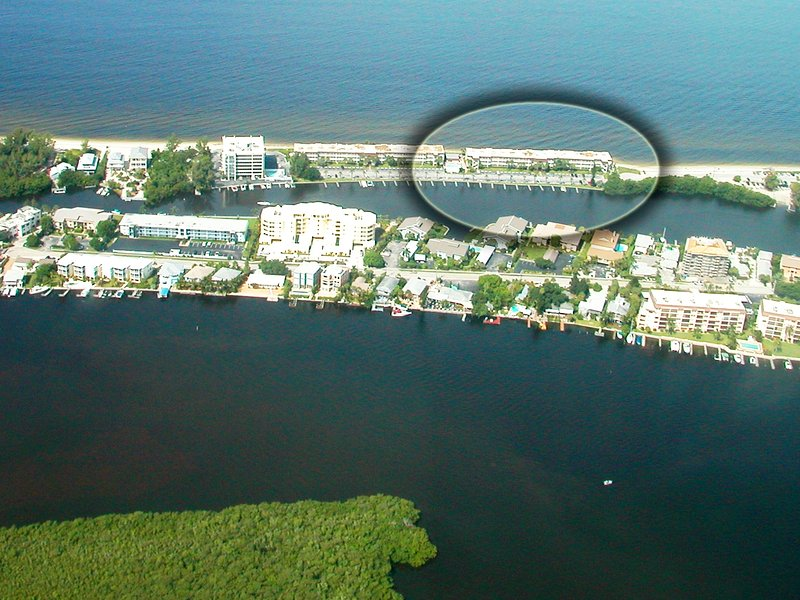 Aerial image of Fisherman's Cove Condo at Turtle Beach on Siesta Key - Fishermans Cove Fisherman's Cove Unit 203A - Siesta Key - rentals