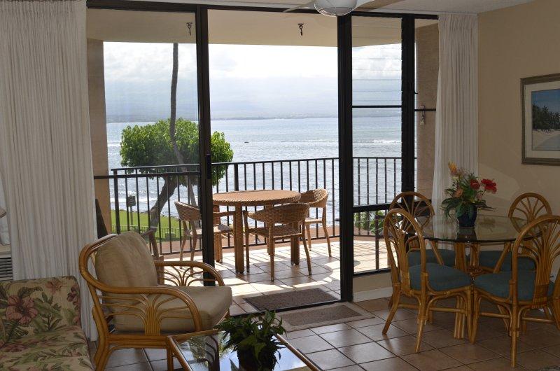 View from our lanai - Milowai #204--Tropical Maui Oceanfront Condo - Maalaea - rentals