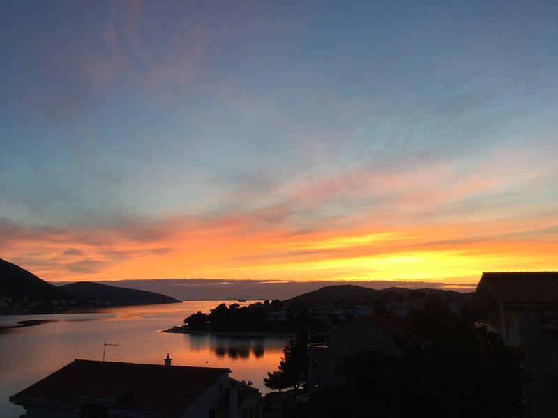 sunset view from the terrace - Apartments Karmela - Unit Laura - Grebastica - rentals