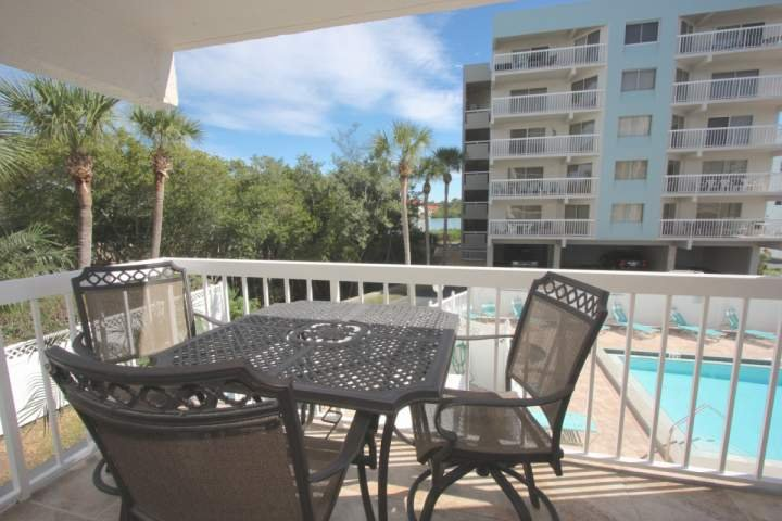 Balcony overlooking the pool. - 102 Waterview - Indian Shores - rentals