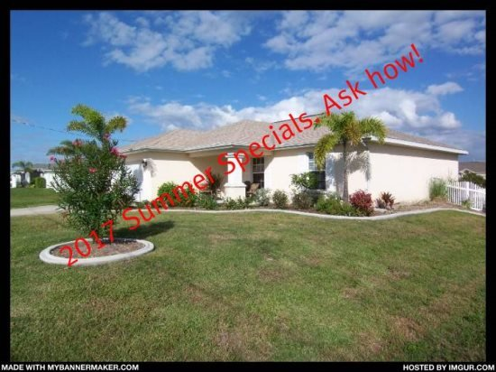 Villa Seastar - 3/br 2/ba nicely furnished, electric heated, salt Pool and Spa - Image 1 - Cape Coral - rentals