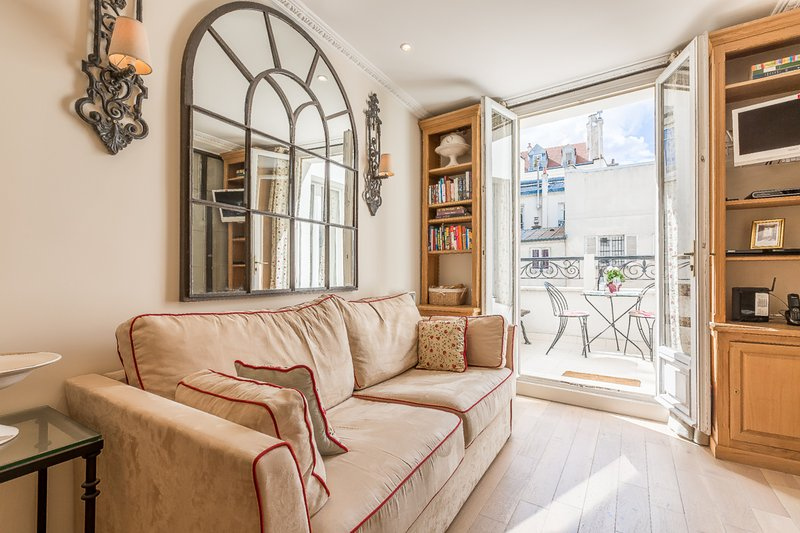 Private terrace - One bedroom with private terrace and traditional atelier-style glass and ir - Paris - rentals