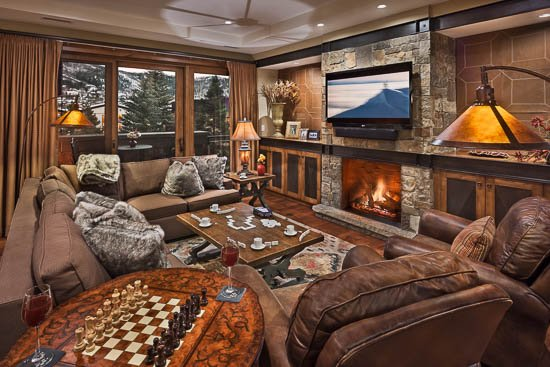 Living Room with Fireplace - One Steamboat Place - Three Forks Mtn #306 - Ski-in/ski-out Luxury - Steamboat Springs - rentals