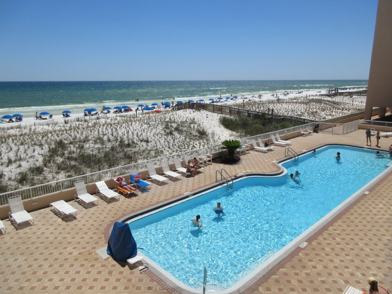 Large 80' beach side pool. - *Beach Front/Beautiful View from priv.Balcony* Islander Beach Resort Condo #3005 - Fort Walton Beach - rentals