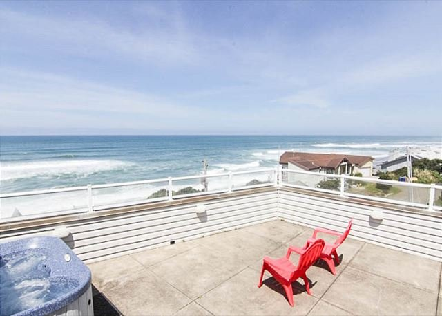 Beautiful OceanView Home with Hot Tub Just South of Lincoln City - Image 1 - Depoe Bay - rentals