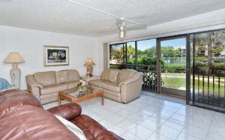 Spacious Living Area with View of Canal - Firethorn 614 - Siesta Key - rentals