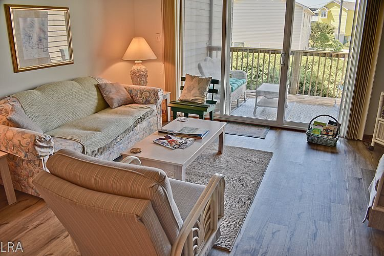 Living Area 2 - Turtle Cove 121 - SAVE UP TO $105!! Community Pool & Beach Access - Surf City - rentals