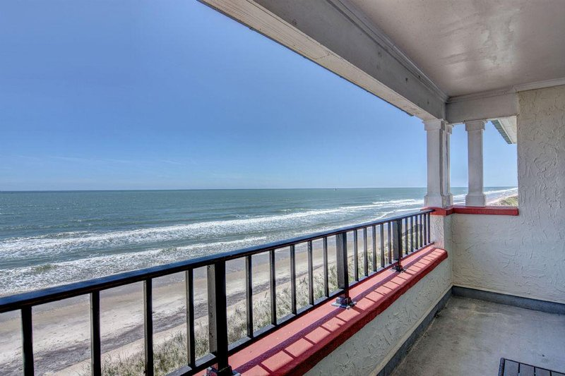 View from the oceanfront balcony - Villa Capriani 315B - North Topsail Beach - rentals