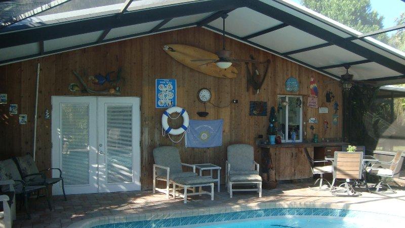 Pool Deck  - pool home, tropical setting - Ormond Beach - rentals