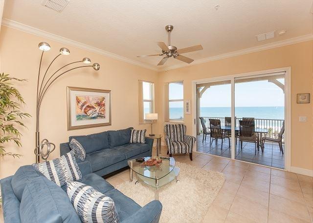 Brand new living room furnishings - Cinnamon Beach 741 - Direct Oceanfront Signature End Unit ! - Palm Coast - rentals