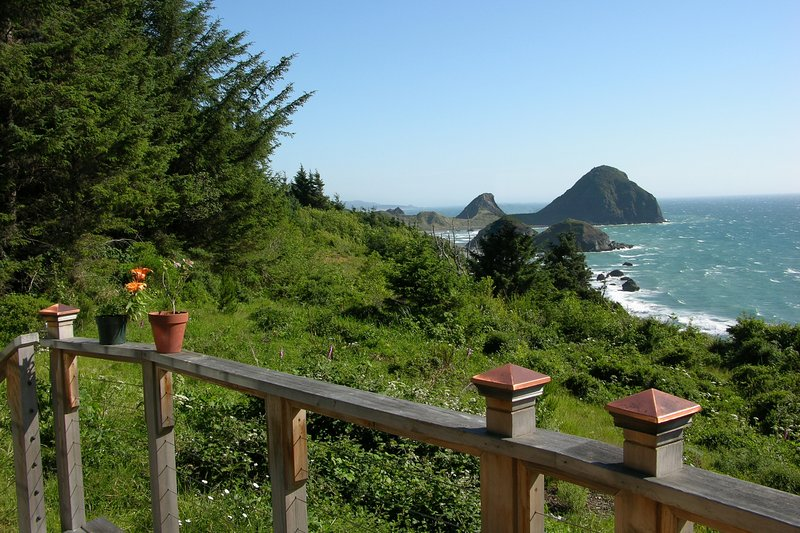 Have the ultimate oceanside retreat at this stunning Gold Beach vacation rental house! - Picturesque 2BR Gold Beach House on 6 Beautiful Acres w/Steam Shower, Fireplace & Panoramic Ocean Views - A 10-min Walk to the Beach! - Ophir - rentals