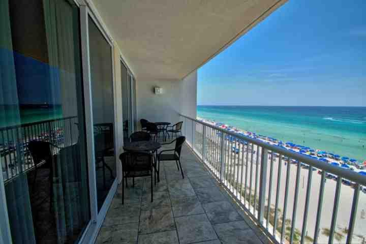 This Gulf Front Unit is located on the 6th Floor!  Just look at that view! - 604 Majestic Beach Tower I - Panama City Beach - rentals