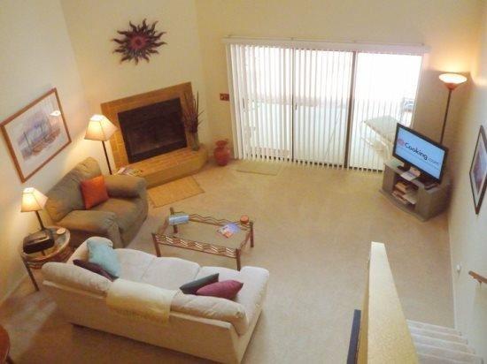 Living room view from the loft master bedroom - Coronado Ridge - Tucson - rentals