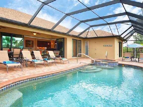Pool with in-ground spa - South Gulf Cove 9455 - Port Charlotte - rentals