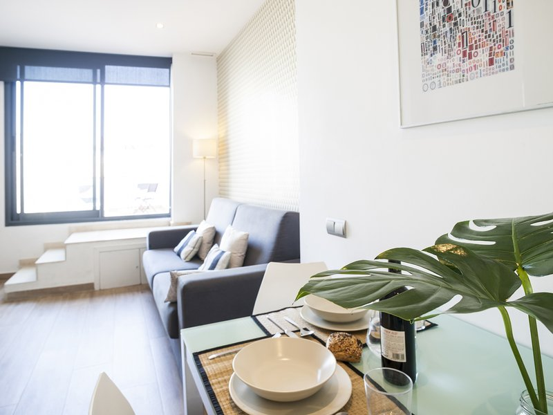 Mozart one bedroom with terrace apartment - Image 1 - Barcelona - rentals