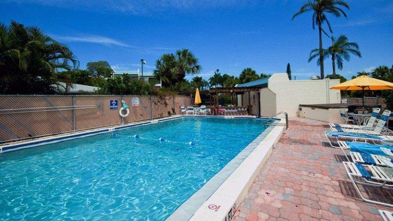 Heated Community Pool - Sun Plaza West: 2BR Condo w/Tennis Courts near Beach - Holmes Beach - rentals