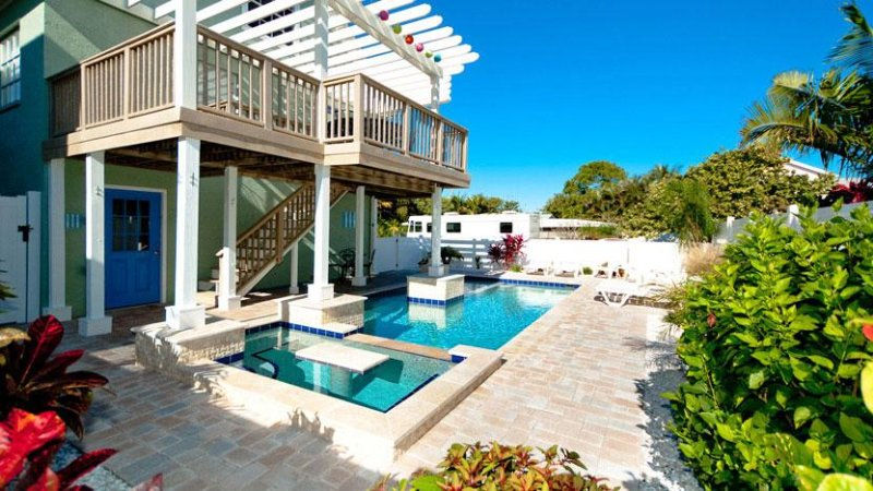 Beautiful Heated Pool! - AMI Retreat: 3BR Pool Home 200 Steps from Beach - Anna Maria - rentals
