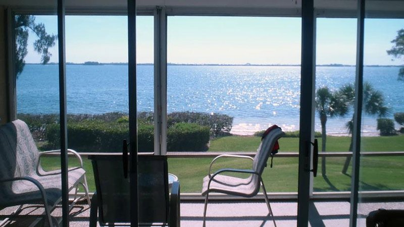 Anna Maria Sound View from Screened Balcony - A Hidden Gem: 2BR Family-Friendly Condo with Pool - Holmes Beach - rentals