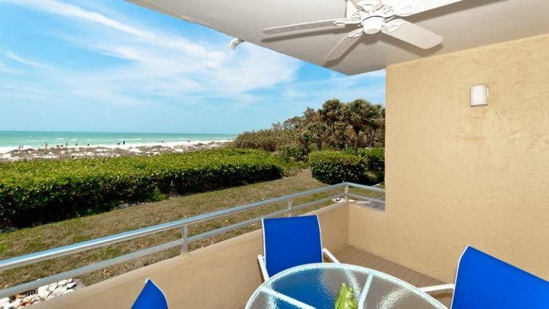 Balcony View   Looking North - Beaches and Dreams: 2BR Beachfront Condo with Pool - Holmes Beach - rentals