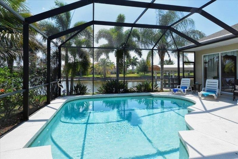 Private Pool to canal with lush landscaping - South Gulf Cove 15390 - Port Charlotte - rentals