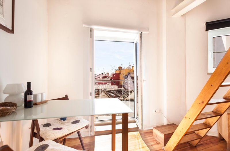 french balcony with a view - ALFAMA I,  historic Lisbon penthouse - Lisbon - rentals