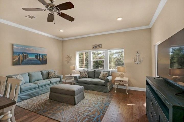 Large and spacious living room to enjoy quality family time. - Affordable Luxury By The Beach.  3 Bedroom Unit Sleeps 10. Pool / Spa/ Steps To - Miramar Beach - rentals